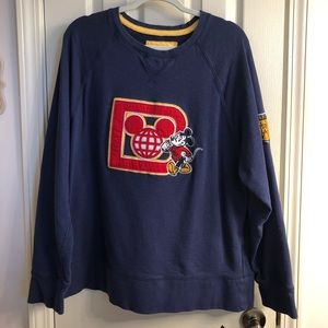 Disney Vintage style Embroidered Mickey Sweatshirt